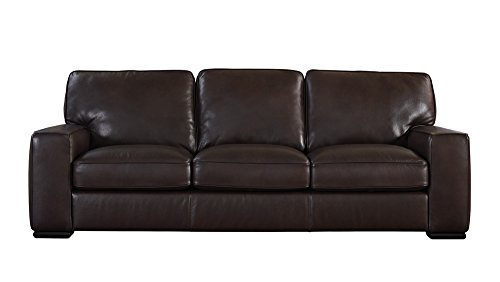 Natuzzi Editions Matera Collection Brown Leather Stationary Sofa (Natuzzi Italian Leather Furniture)