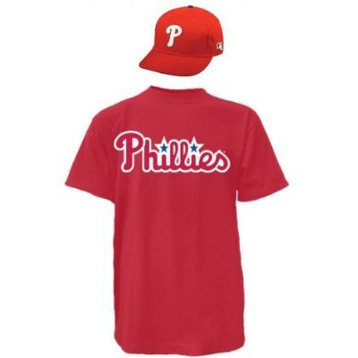 Philadelphia Phillies CAP & YOUTH SMALL JERSEY MLB Licensed Replica Combo Set