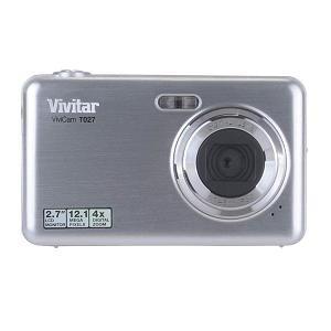 Vivitar ViviCam T027 12.1 Megapixel Compact Camera - Silver Vivitar Vivicam