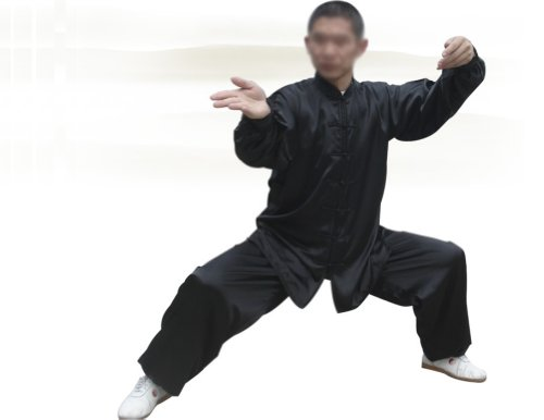 "Tai Chi Uniform - luxurious Korean Silk, Traditional Tai Chi Clothing for your Tai Chi Exercise (Black, Large (5'9"" - 6'1"" & 170 -200 lbs))"