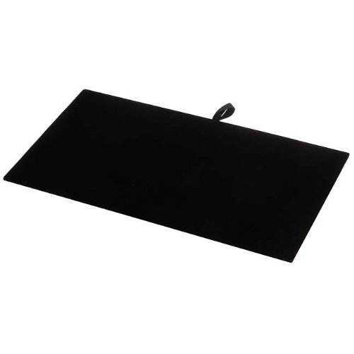 Beadaholique Jewelry Display Pad, Luxurious Black Velvet 93-1 BK