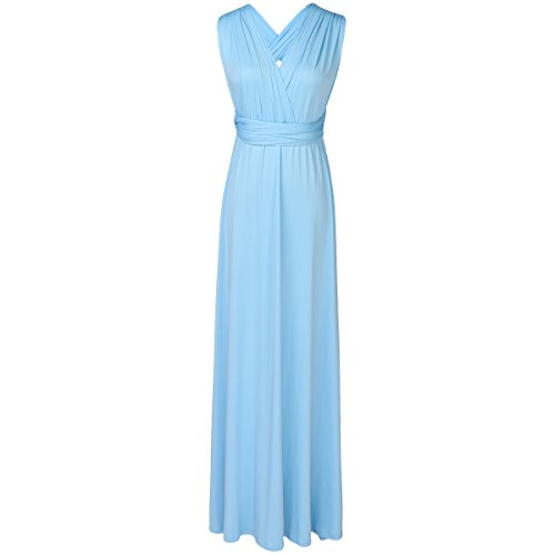 Blue Cocktail Bridesmaid Multi Night Dress Convertible Way Gown Light Ball Long Transformer Wedding Wrap Infinity Women Bandage Fz7awEq