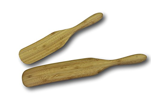 Sugar Cake Layer Chocolate Free - Bamboo Spurtle 2-Piece Set - Multi Purpose Kitchen Utensil - Spoon, Spatula