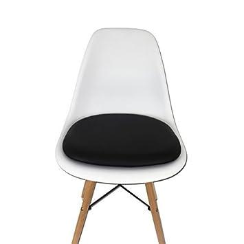 Coussin simili cuir pour Chaise Eames - Noir - DECM-291 Mobistyl ...