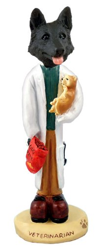 German Shepherd Black Veterinarian Doogie Collectable Figurine