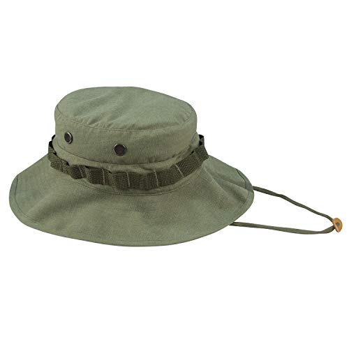 Rothco Vintage Vietnam Style Boonie Hat, Olive Drab, 7.5