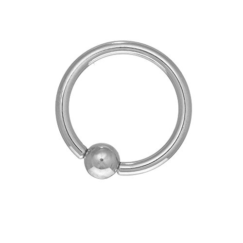 - JewelStop 14K Solid White Gold Captive Ball Closure Bead Nipple Ring Body Jewelry, 14 gauge, 1gr.