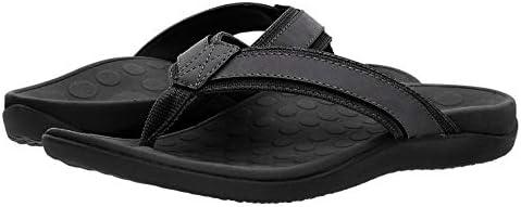 Vionic with Orthaheel Technology Men/'s Tide Toe Post Sandal Black