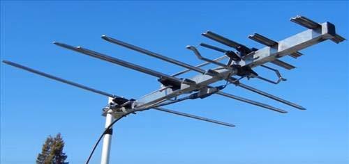 TV Antenna - RCA Outdoor Yagi Satellite HD Antenna w/ 150 Mile Range (70+ Miles from Broadcast Epicenter) Attic or Roof Mount TV Antenna, Long Range Digital OTA Antenna for Clear Reception, 4K 1080P