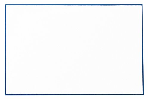 Crane Regent Blue Bordered Correspondence Card, Pearl White (CC3715)