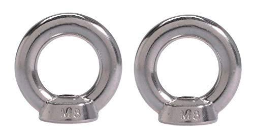 2 Pieces Stainless Steel 316 Lifting Eye Nut 1//2 UNC Heavy Duty Marine Grade