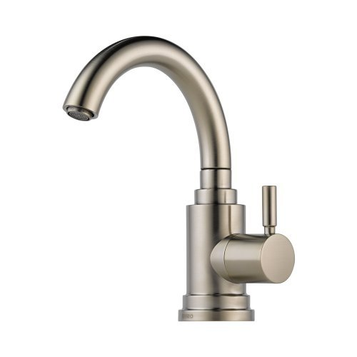Brizo 61320LF-SS Euro Bar Faucet Single Handle Cold Water Only, Stainless (Loki Single Hole)