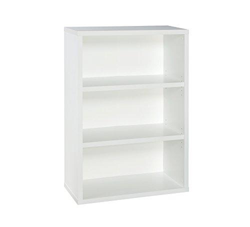 (ClosetMaid 13502 Decorative 3-Shelf Premium Bookcase, White)