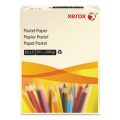 -- Multipurpose Pastel Colored Paper, 20-lb, Letter, Ivory, 500 Sheets/Ream