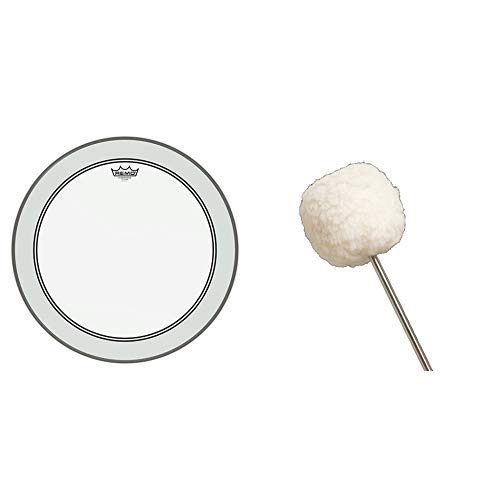 Remo Powerstroke P3 Clear Bass Drumhead, 22'' with Vater VBVB Vintage Bomber Bass Drum Beater