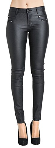Ladies Leather Motorcycle Trousers - 1