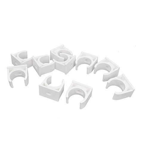 Uxcell PVC Multi-Function Pipe Clamps Preloaded Nail, 20mm Dia, 10Pcs, White by uxcell