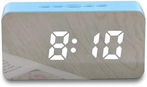 SMNHSRXH Multicolor Multifunción LED Espejo Reloj Despertador ...