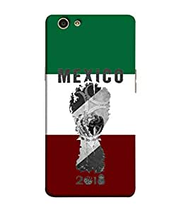 ColorKing Football Mexico 05 Multicolor shell case cover for OPPO F1S