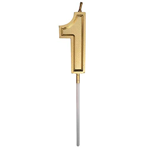 Weiliru Birthday Celebration, Numeral Metallic Candle, Party Supplies, Birthday Numeral Candles
