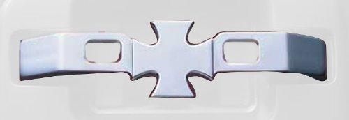 All Sales 472C Chrome Billet Aluminum Iron Cross Door Handles - Set of 2