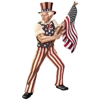 Jointed Uncle Sam Party Accessory (1 count) (1/Pkg) ()
