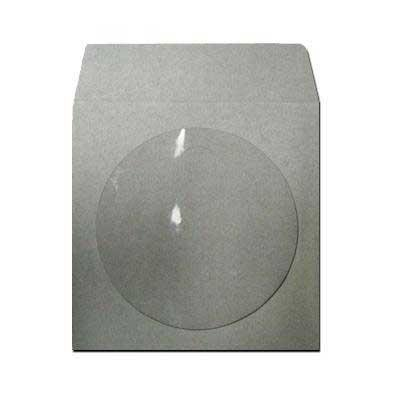 100 Gray / Grey Colored Paper CD / DVD Disc Sleeves With Flap & Window #CDIWWFGY - Perfect for Organizing & Storing CDs and DVD Discs!