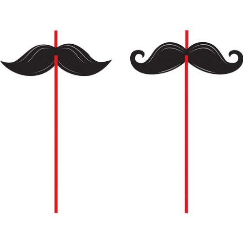 6-Count Straws, Mustache Madness]()