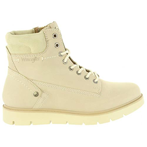 - Wrangler WL182510 Tucson Lady Nubuck Cream Woman Ankle Boot in Suede Leather Size 41 EU