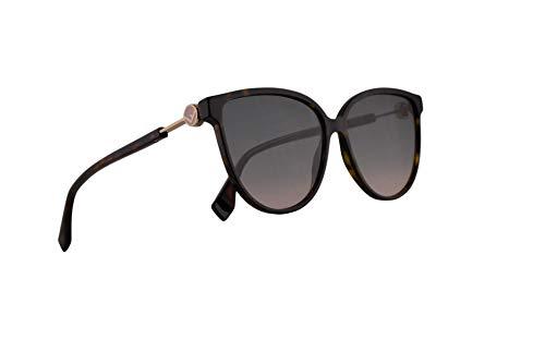 Fendi FF0345/S Sunglasses Dark Havana w/Green Pink Lens 59mm 086JP FF0345S FF 0345/S