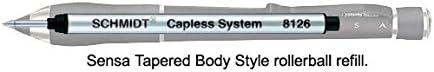 N67000 Sensa Refills Black Medium Point Rollerball Pen