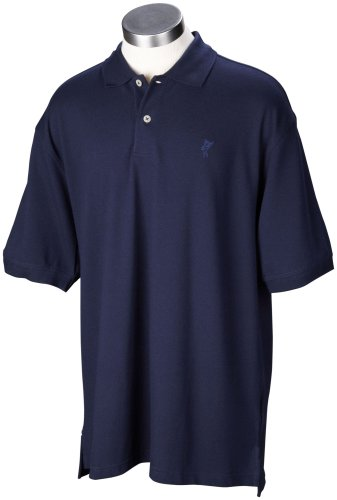 - Ashworth Men's Classic Solid Pique Short Sleeve Knit Shirt (Navy, Large)