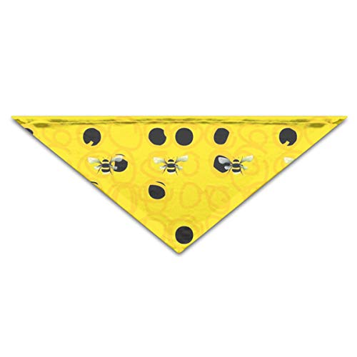 OLOSARO Dog Bandana Bumble Bees Triangle Bibs Scarf Accessories for Dogs Cats Pets Animals ()