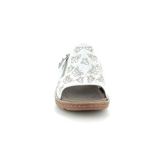 ara Damen Hawaii Pantoletten Grau (Silber)