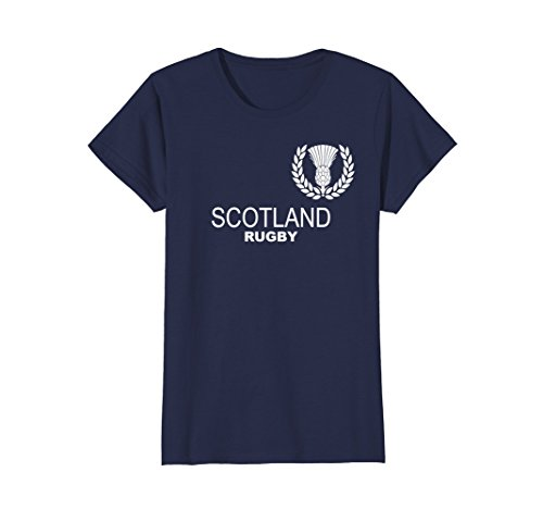 Womens Scotland Scottish Rugby Jersey Tshirt Tees XL Navy (Womens Rugby Navy)