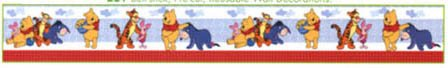 Winnie The Pooh and the Gang Pre-School Border ()