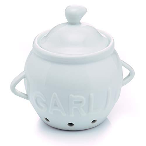 KitchenCraft Garlic Storage Pot, Porcelain