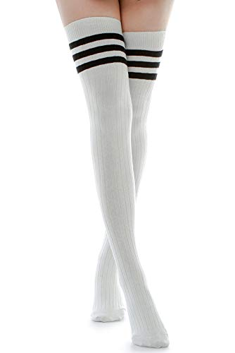 Kayhoma Long Cotton Mid Thigh High Socks Over the Knee High Boot Stockings Cotton Leg Warmers