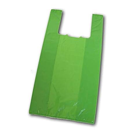 Envio 24h Bolsas de Plastico Asa Camiseta Verde Extra Calidad Doble Fuerte Que Las Blancas 1kg (42 x 53 cm) (1 kg)