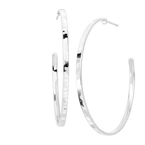 Silpada 'Circle Up' Hammered Hoop Earrings in Sterling Silver