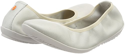 Smooth Oki451sof Toe Flats Women''s Softinos Ballet white Closed White Eq6Zx7