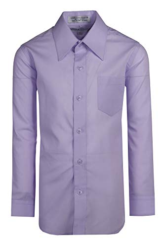 Tuxgear Boys Lavender Dress Shirt Long Sleeve, Button Up (14)