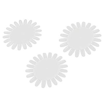 Uñas postizas de plástico Rueda eDealMax Display arte del clavo inclina 20- uñas Muestras de