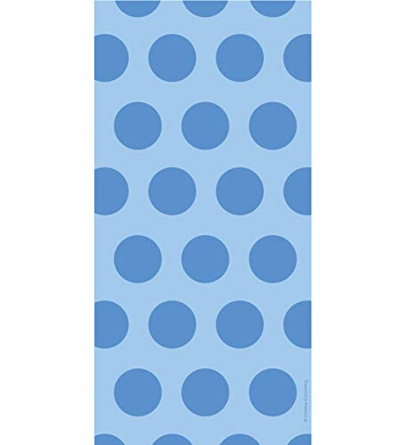 Mozlly Multipack - Creative Converting Blue Cobalt Polka Dot Cello Bags - for Treat Bags, Candy, Chocolates, Baked Goods and More - Party Supplies and Decorations (20pc Set) (Pack of 3)