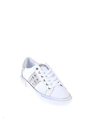 Gamer5 Sneaker leather Lik active Bianco Lady Guess Donna dHqfwd