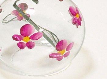 NIHON ICHIBAN Japanese Handmade Glass Wind Chime with Sakura Blossoms