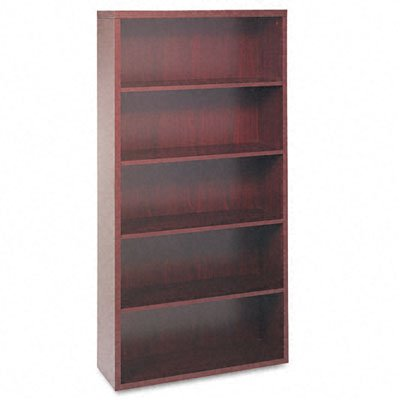 HON Valido 11500 Series Bookcase, 5 Shelves, 36 W by 13-1/8 D by 71 H, Mahogany - Nn 10500 Series