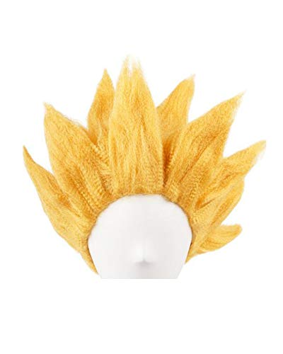 Miccostumes Men's Goku Cosplay Wig (Gold)]()
