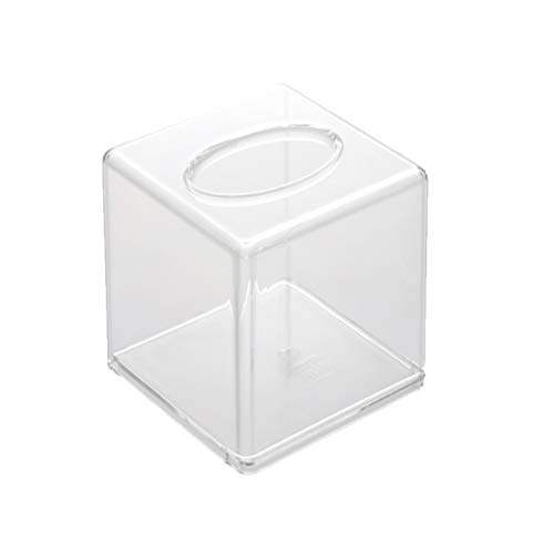 LOO Transparent Clear Acrylic Tissue Box Cover (Square)