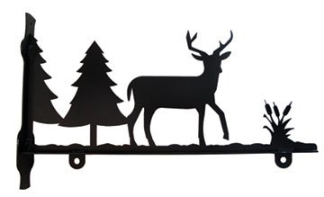 Village Wrought Iron SGB-203-24 Special Order Deer & Pine...